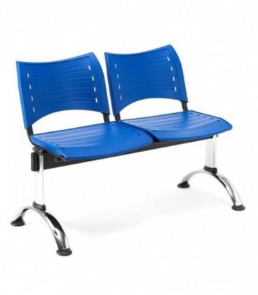Bancada con asiento y respaldo en polipropileno BANCADA POLI-2
