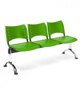 Bancada con asiento y respaldo en polipropileno BANCADA POLI-3