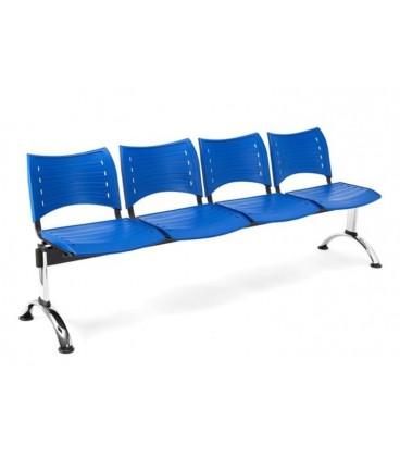 Bancada con asiento y respaldo en polipropileno BANCADA POLI-4