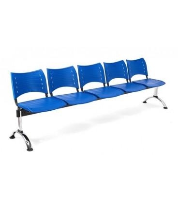 Bancada con asiento y respaldo en polipropileno BANCADA POLI-5