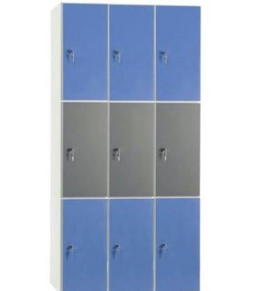 Taquilla 9 puertas medias de 30 cms