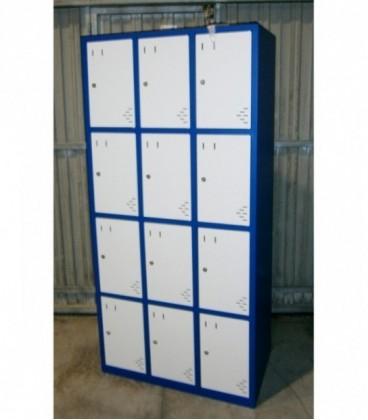 Taquilla casillero de 12 puertas