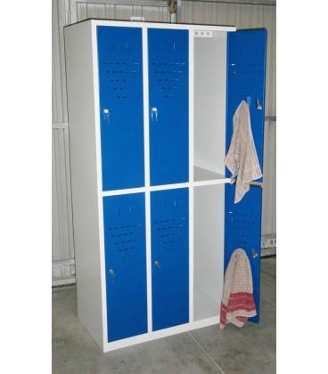 Taquilla 6 puertas medias de 30 cms