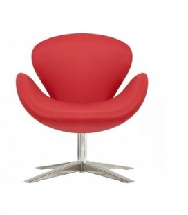 Sillón tapizado similpiel rojo, SW 30