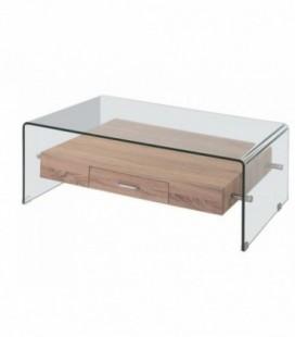 Mesa baja, madera, cristal, 110x55 cms, MARILYN