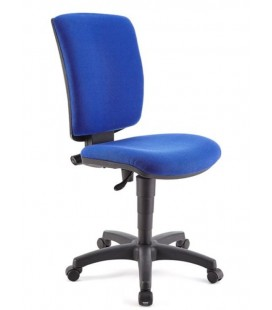Silla giratoria operativa, sin brazos, respaldo y asiento tapizado FLASH-SB