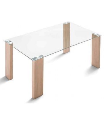 Mesa con tapa de cristal modelo BASIC