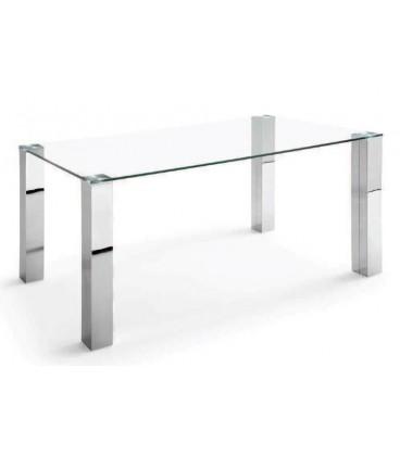 Mesa con tapa de cristal modelo CHANTAL PLUS