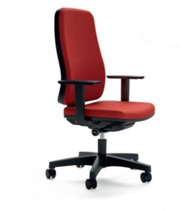 Silla giratoria operativa, con brazos regulables en altura, respaldo y asiento tapizado BLAZE
