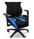 Sillón Gaming ecopiel negro-azul GALAXY GA